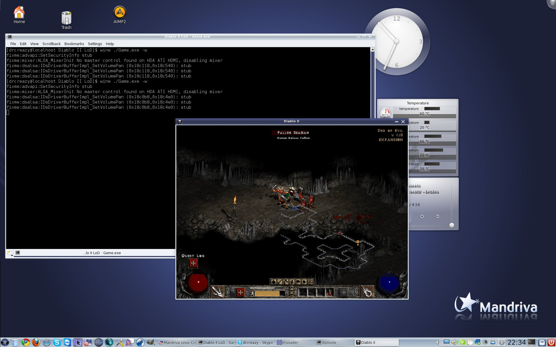 Diablo II LoD + Wine
