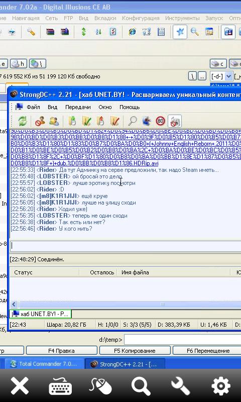 strong dc++ запущен через teamviewer