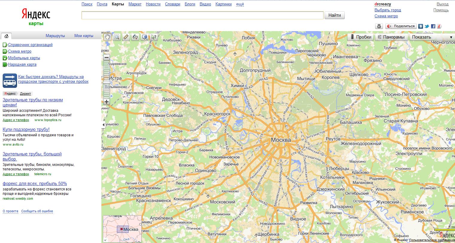 Смотреть на yandex-картах yandex-map