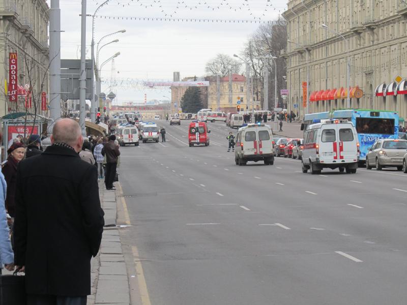 Взрыв в метро Октябрьская Минск