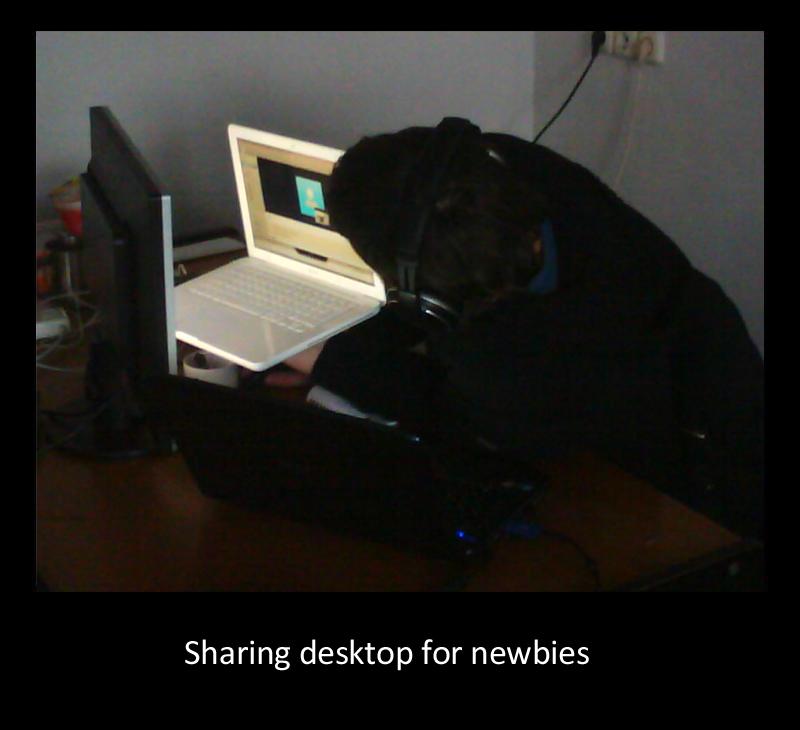 Шарим рабочий стол в Skype - как?